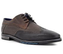 Schuhe Budapester, Leder, dunkel-grau