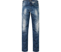 Jeans, Regular Slim Fit, Baumwoll-Stretch, jeans