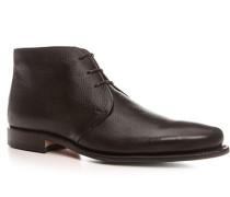 Schuhe Stiefeletten, Kalbleder, dunkel
