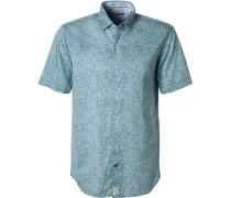 Kurzarmhemd, Modern Fit, Popeline,  gemustert