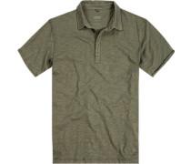 Polo-Shirt, Baumwolle, khaki meliert