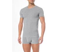 T-Shirt, Mikrofaser, hell meliert