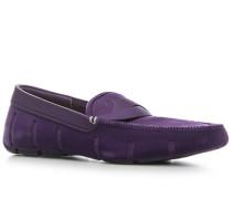 Schuhe Loafer, Kautschuk-Veloursleder
