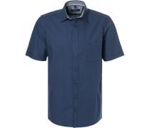 Kurzarmhemd, Comfort Fit, Baumwolle, navy