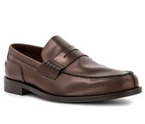 Schuhe Loafer, Leder, kastanien