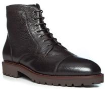 Schuhe Stiefelette, Leder, dunkel