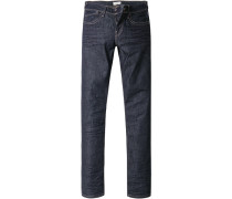 Jeans, Slim Fit, Baumwoll-Stretch, dunkel
