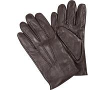Handschuhe, Lammleder, dunkel