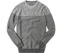 Pullover, Baumwolle, braun gemustert