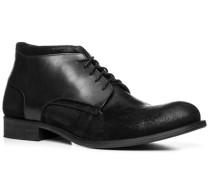Schuhe Schnürstiefeletten, Velourleder