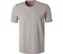 T-Shirt, Mikrofaser,  meliert