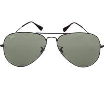 Brillen Sonnenbrille Aviator, Metall, schwarz