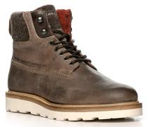 Schuhe Schnürboots, Leder, grau