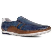 Schuhe Slipper, Leder, dunkel-cognac
