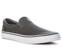 Schuhe Slip Ons, Canvas, oliv