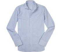 Hemd, Slim Fit, Popeline, weiß- gestreift
