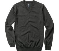 Pullover, Regular Fit, Schurwolle, dunkel meliert
