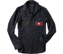Flanellhemd, Regular Fit, marine