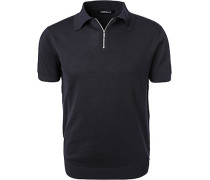 Polo-Shirt, Baumwoll-Strick, navy