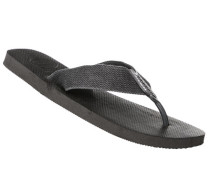 Schuhe Zehensandalen, Textil-Gummi, anthrazit