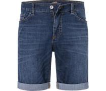 Jeansshorts, Modern Fit, Baumwoll-Stretch, indigo