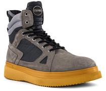 Schuhe Boots, Veloursleder, stein
