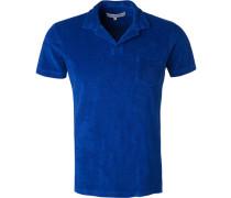 Polo-Shirt, Baumwoll-Frottee, royal