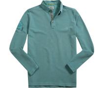 Polo-Shirt, Baumwoll-Piqué, mint
