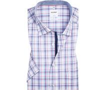 Hemd, Comfort Fit, Popeline, bleu-rot kariert