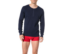 Schlafanzug Longsleeve, Baumwolle, navy