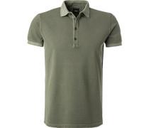 Polo-Shirt, Baumwoll-Piqué, schilf