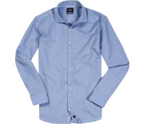 Hemd, Slim Fit, Struktur, capri gemustert