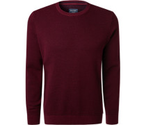 Pullover, Modern Fit, Baumwolle, bordeaux