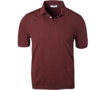 Polo-Shirt, Baumwolle, bordeaux