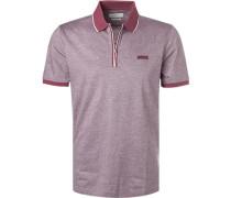 Polo-Shirt, Baumwoll-Jersey, bordeaux meliert