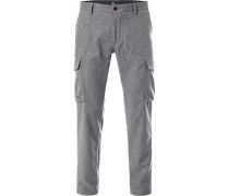 Cargohose, Slim Fit, Wolle, hell