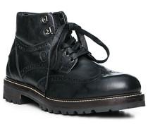 Schuhe Boots, Glattleder