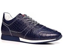 Schuhe Sneaker, Leder, azzurro