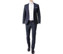 Anzug, Slim Fit, Schurwoll-Stretch, nacht