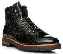Schuhe Schnürstiefeletten, Leder, nero