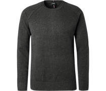 Pullover, Regular Fit, Wolle, anthrazit
