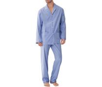 Schlafanzug Pyjama, Baumwolle mercerisiert