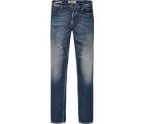 Jeans, Super Slim Fit, Baumwoll-Stretch, indigo