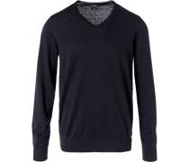 Pullover, Modern Fit, Seide-Kaschmir, nacht