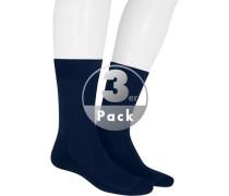 Socken, Baumwolle, marine