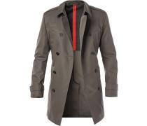 Mantel Trenchcoat, Baumwolle, oliv