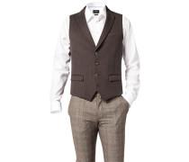Anzugweste, Baumwolle, schwarz- gemustert