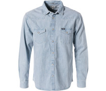 Hemd, Regular Fit, Jeans, eis