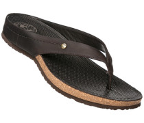 Schuhe Zehensandalen, Nappaleder, dunkel
