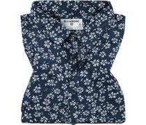 Hemd, Tailored Fit, Popeline, navy gemustert